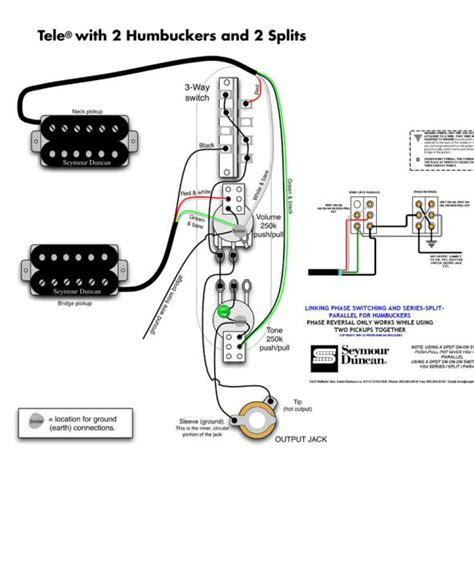 Wiring Diagram Humbuckers Coil Splits Plus Series