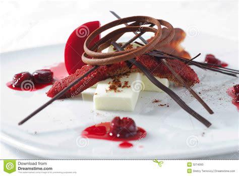 dessert de cerise avec du chocolat photos stock image 3274093