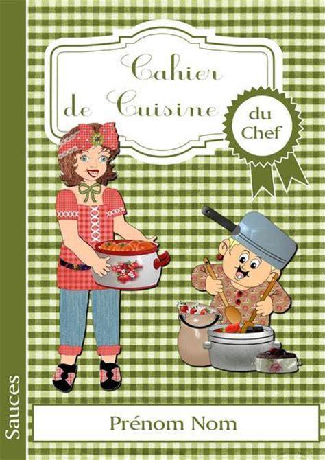 cahier recette cuisine page de garde du cahier de cuisine du chef album de