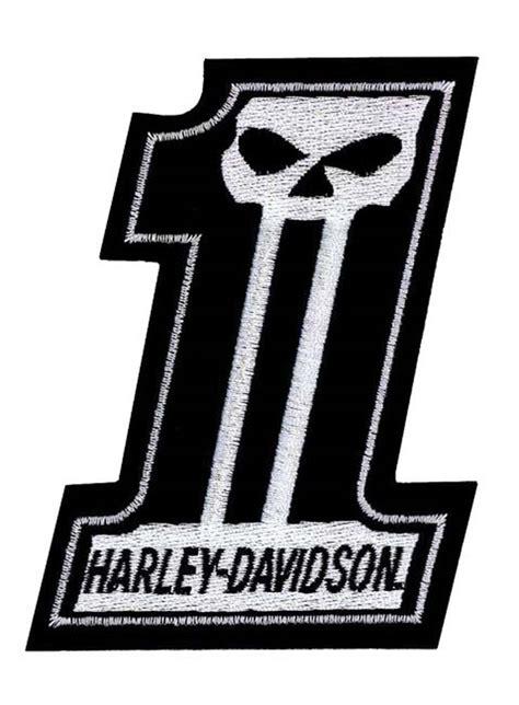 harley davidson patches harley davidson 1 skull black white small patch 3 w x 4 h em718302 ebay