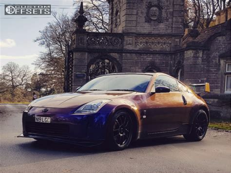 Wheel Offset 2005 Nissan 350z Nearly Flush Coilovers