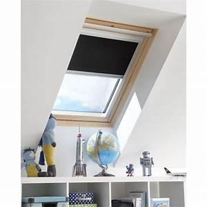 Store Fenetre Leroy Merlin : store fen tre de toit occultant noir noir n 0 artens ~ Dailycaller-alerts.com Idées de Décoration