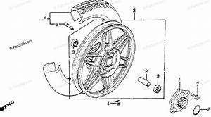 Honda Motorcycle 1983 Oem Parts Diagram For Rear Wheel