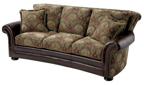 sofas with leather and fabric fabric leather sofas