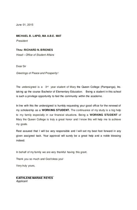 sle letter of intent scholar application renewal