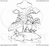 Outline Chair Coloring Tropical Clip Lounge Royalty Illustration Clipart Waterfall Rf Bnp Studio Template Templates Sketch sketch template