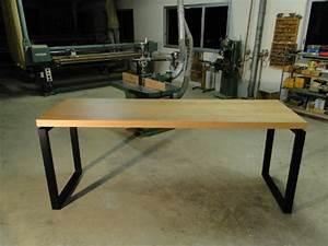 Table Bois Et Noir : table de repas haute en bois et metal pour levallois ~ Dailycaller-alerts.com Idées de Décoration