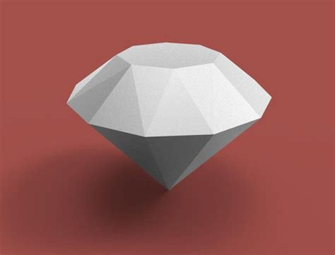 diamond  papercraft model   template diy