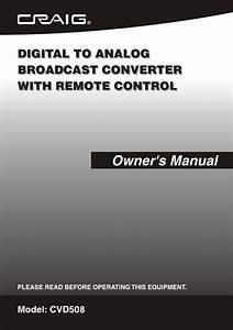 Craig Tv Converter Box Cvd508 User Guide