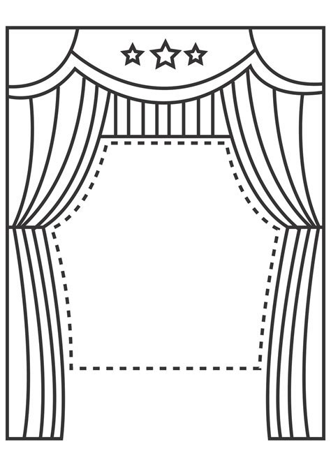stage clipart black and white clip puppet theater clipart clipart suggest