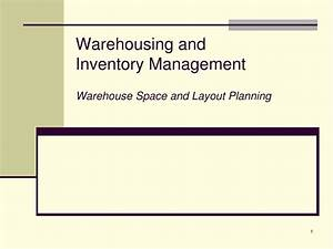 PPT - Warehousing and Inventory Management Warehouse Space ...