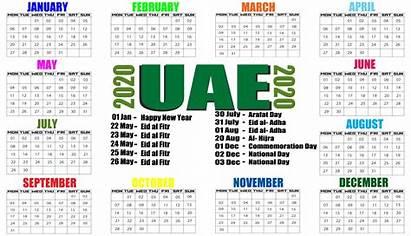 Uae Holidays Calendar Template Calenda Printable Colorful