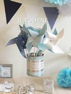 Moulin A Vent Deco Bapteme : 10 moulin vent bleu pastel marine jaune d cor toile communion babyshower and babies ~ Melissatoandfro.com Idées de Décoration