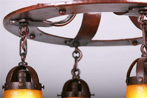 handel hammered copper chandelier  california