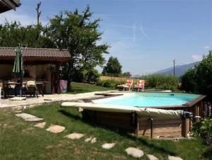 Maison Semi Enterrée : piscine bois sur terrain en pente ~ Voncanada.com Idées de Décoration