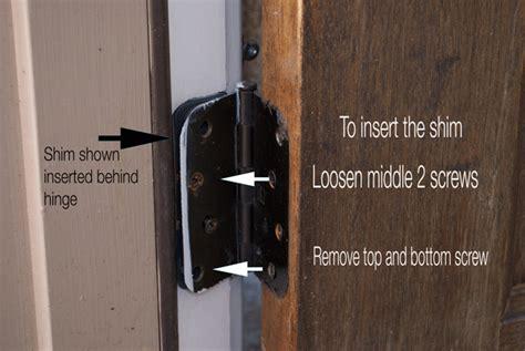 door hinge shims easy door alignment bee of honey dos
