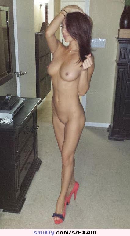 Heels Nude College Posing Showingoff Perky Tight