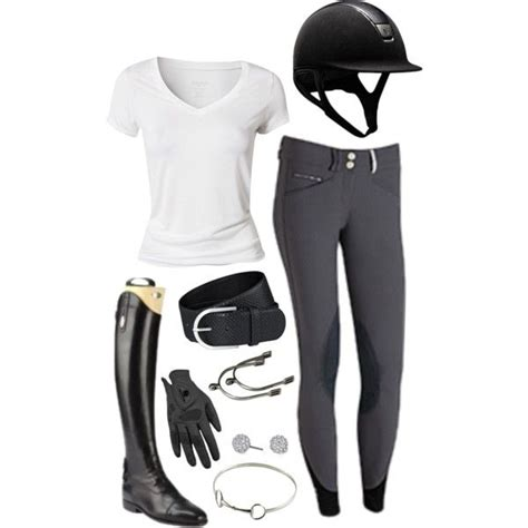 riding horse equestrian outfits outfit horseback simple boots clothes english hunter clothing spring summer helmet jumping cute dressage gear shirt