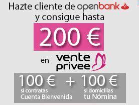 si e social vente priv openbank da 200 en cheque regalo de vente privee si