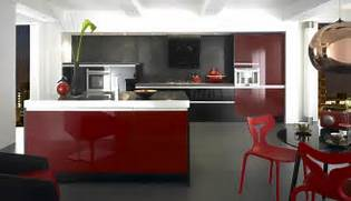 Kitchen Design Red And White by 70