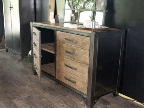 bahut capitol maison bahut bois et acier pour un style atelier création à la