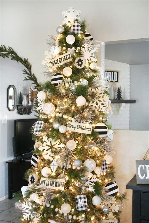 white christmas tree decorations pictures black white tree decor