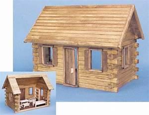 Real Good Toys Log Cabin Dollhouses from FINGERTIP