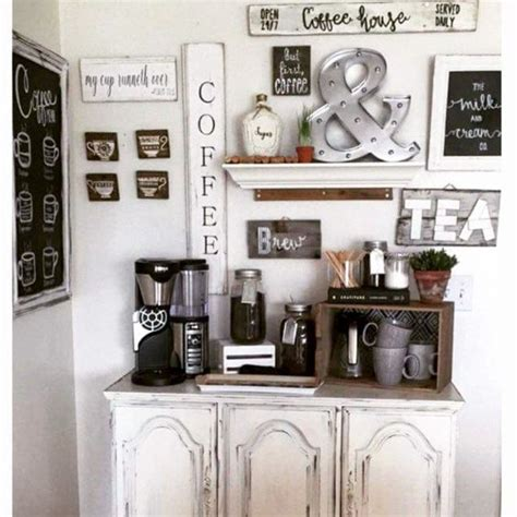 To help you make better use of small spaces, below we have gathered a selection of 20 small cafe projects alongside their design drawings. DIY Coffee Bar Ideas - Stunning Farmhouse Style Beverage Stations for Small Spaces and Tiny ...