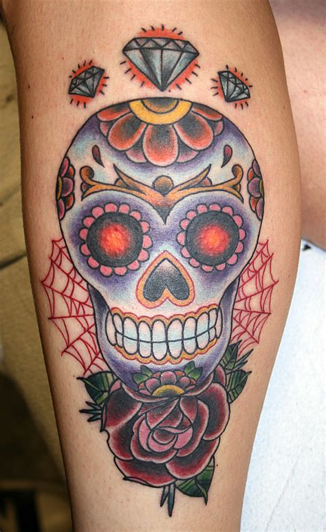 crazily gorgeous sugar skull tattoos designbump