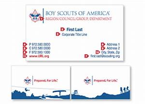 Identity collateral scouting wire scouting wire for Boy scout business card template
