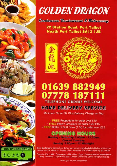 Golden House Kitchen Valley Menu by Golden Cantonese Restaurant And Takeaway In Port Talbot
