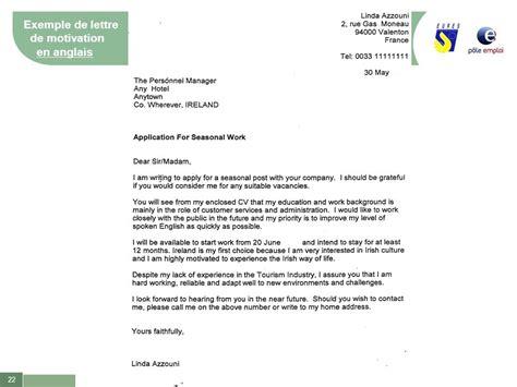 modele lettre de motivation pour plongeur debutant l emploi saisonnier a l etranger ppt t 233 l 233 charger