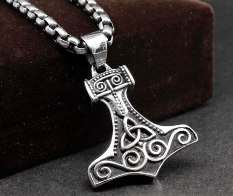 image gallery mjolnir necklace