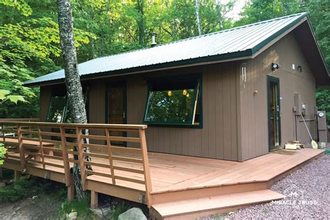 diy cabin modern diy cabins and retreats miracle truss
