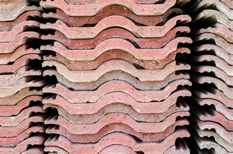red corrugated asbestos roof stock photo image  bumpy