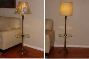 vintage stiffel brass floor lamp glass table mid century