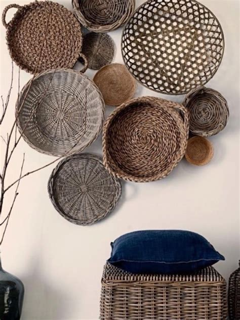 wall decor ideas  baskets upcycle art