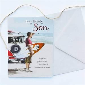 Son Birthday Card Garlanna Greeting Cards
