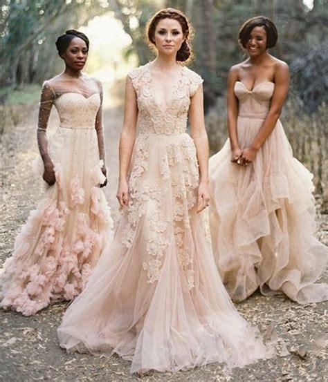 Vintage V Neck Lace Wedding Dresses Rustic Bride Dress A