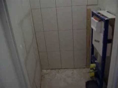 hangend toilet afwerken toilet betegelen youtube