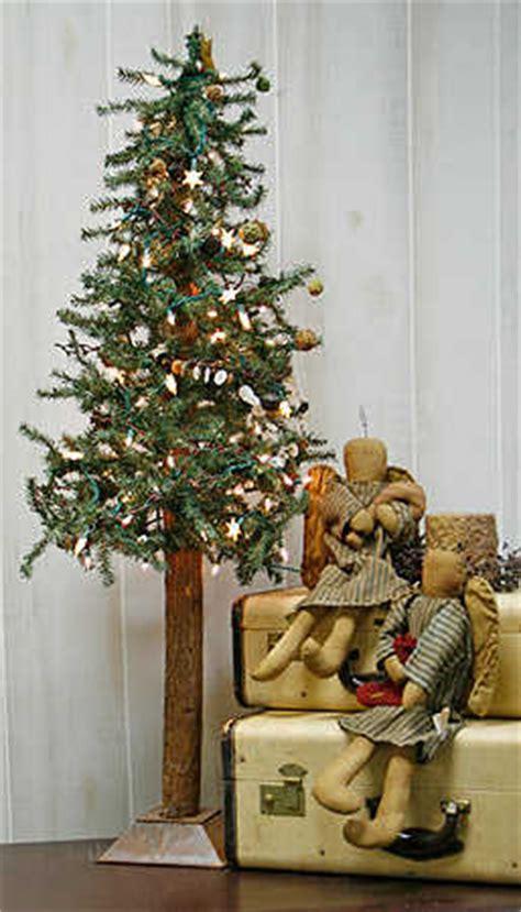 foot primitive alpine skinny christmas tree trees