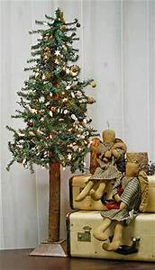 4 foot Primitive Alpine Skinny Christmas Tree Trees and