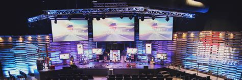 long  home church stage design ideas