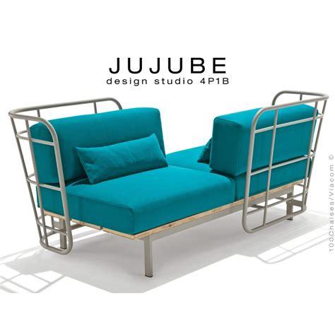 dossier de canapé canapé d 39 intérieur 2 places jujube structure acier