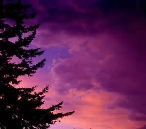 Purple Storm Clouds