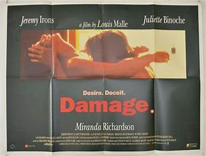 DAMAGE (1992) Original Cinema Quad Movie Poster - Jeremy ...