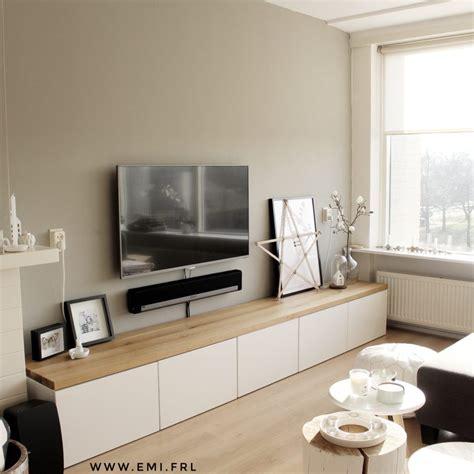 tv kast ikea besta burs mijn tv meubel ikea besta hack met eikenhouten plank