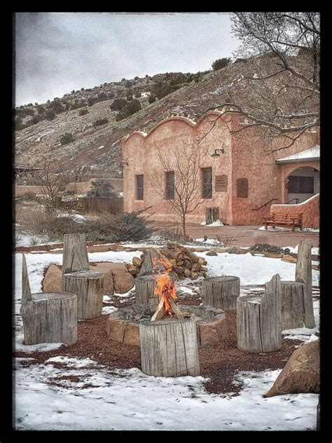 santa fe pit ojo caliente mineral springs spa new mexico fire pit snow winter new mexico i love pinterest