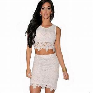 White Crop Top And Skirt Set | www.imgkid.com - The Image ...