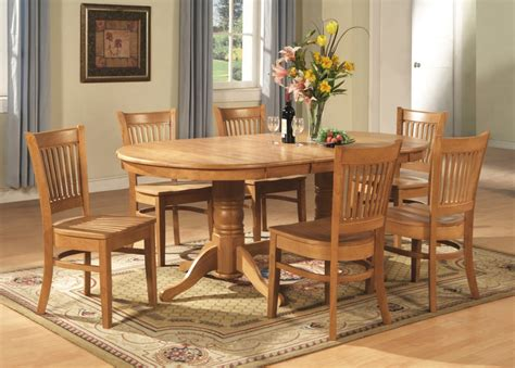 solid wood dining table  chairs oval dining room table